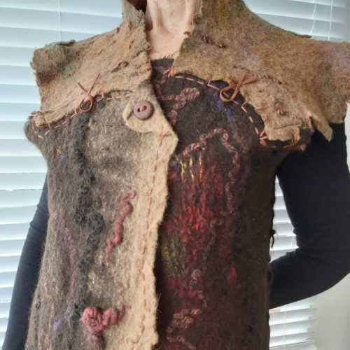 Vest by artist June Hope